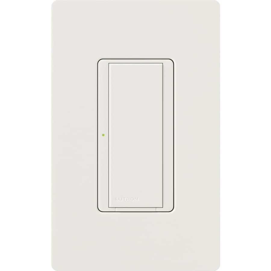 Lutron Maestro  8-amp Single Pole 3-way Snow Push Indoor Light Switch