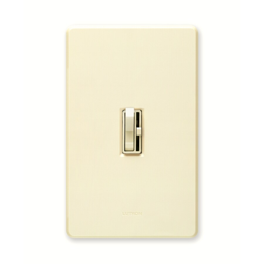 Lutron Toggler 600-watt Single Pole Almond Toggle Indoor Dimmer