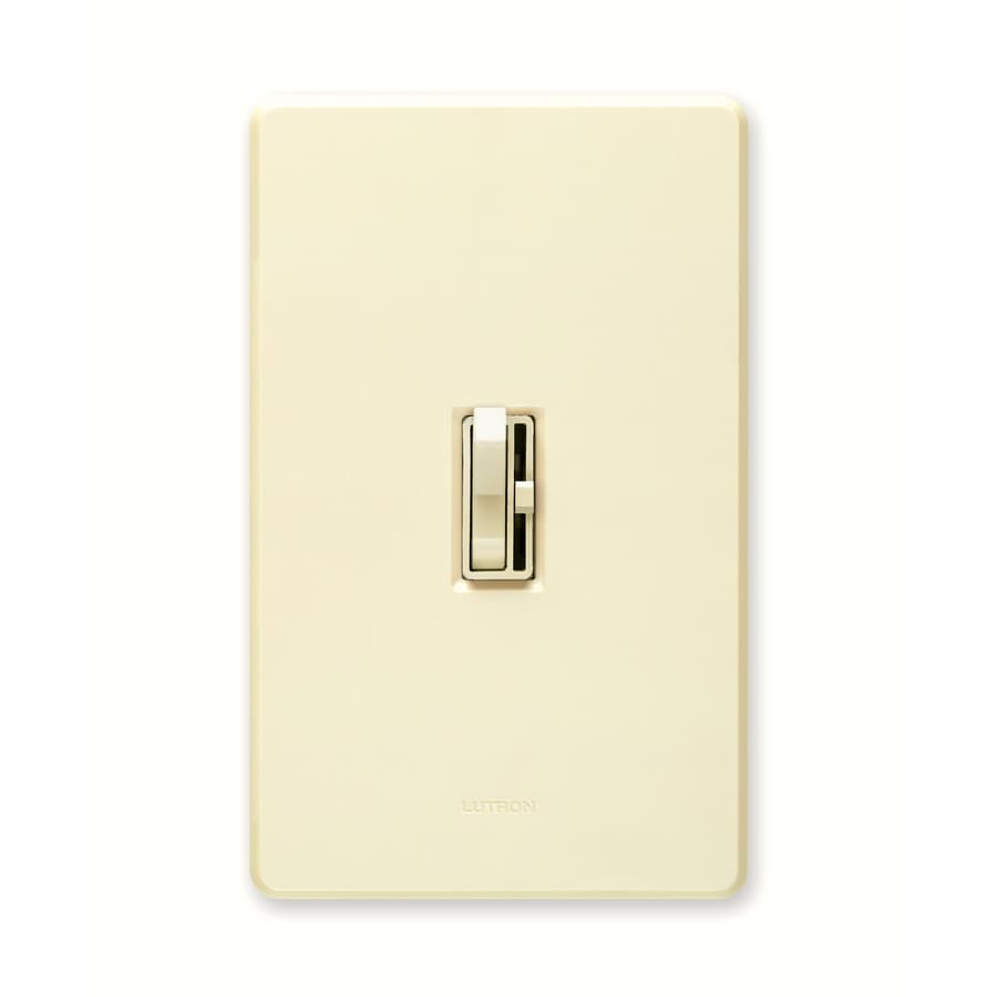 Lutron Toggler 600-Watt Single Pole Almond Indoor Toggle Dimmer