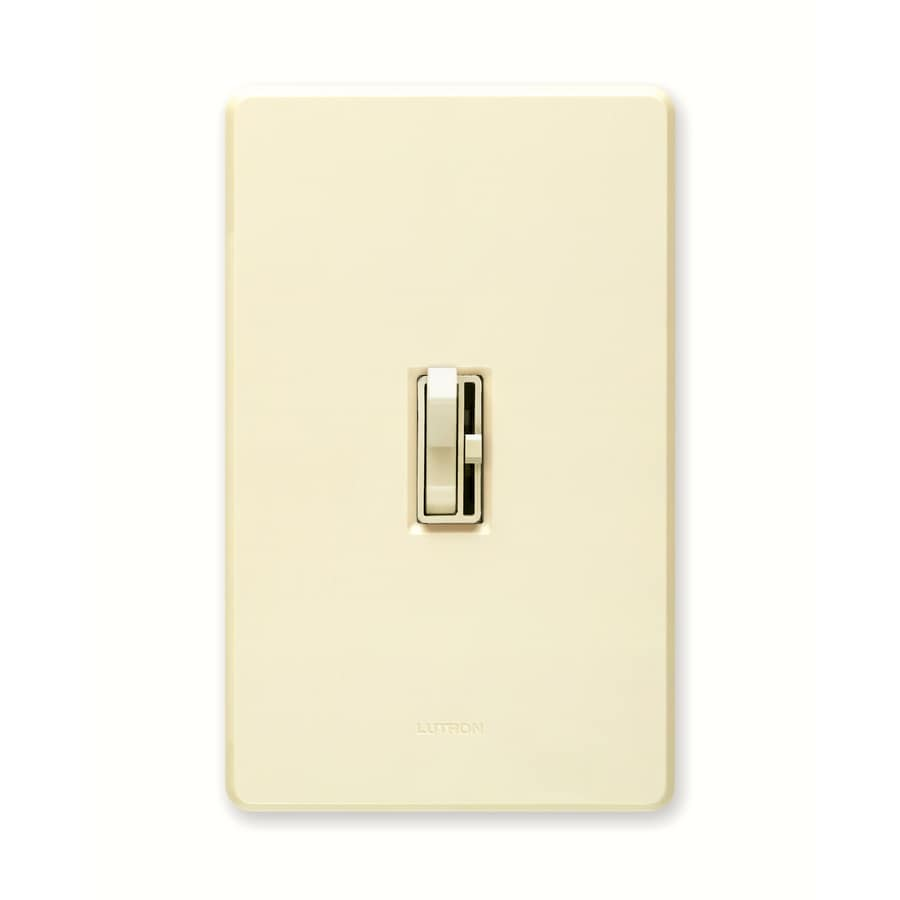 Lutron Toggler 1000-watt Single Pole 3-way Almond Toggle Indoor Dimmer