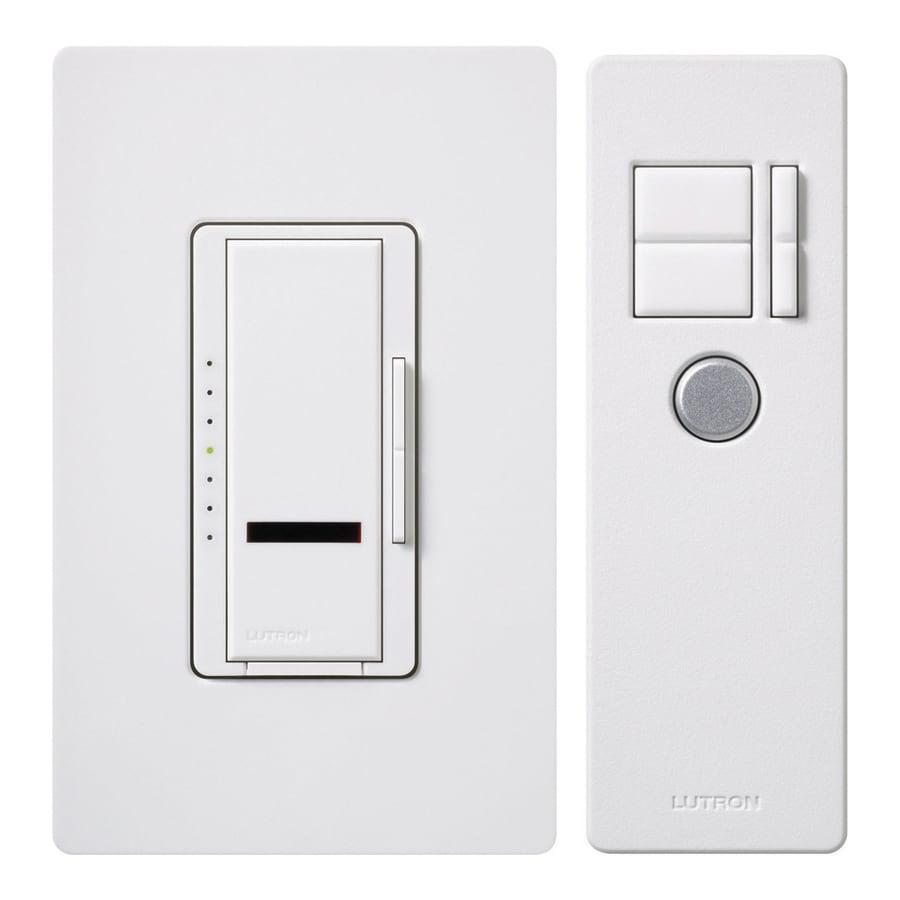 Lutron Maestro 600-Watt Single Pole Wireless White Indoor Remote Control Dimmer
