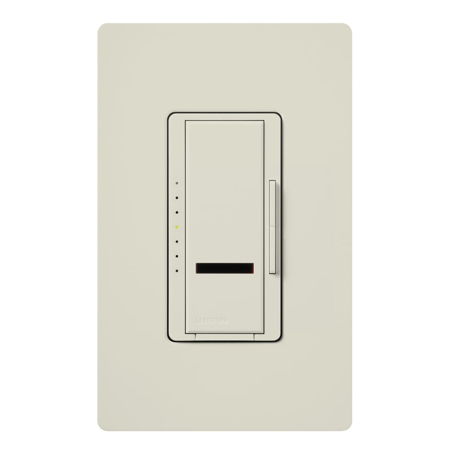 Lutron Maestro IR 600-watt Single Pole Wireless Light almond Remote Control Indoor Dimmer