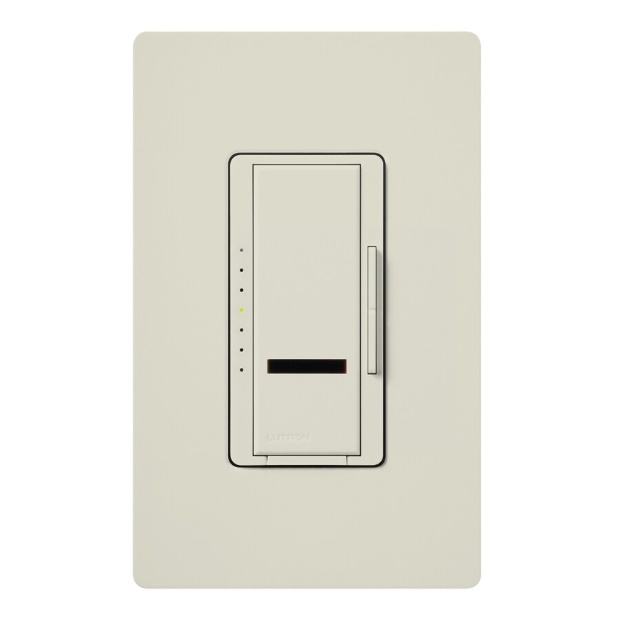 Lutron Maestro IR 1000-Watt Single Pole Wireless Light Almond Remote Control Indoor Dimmer