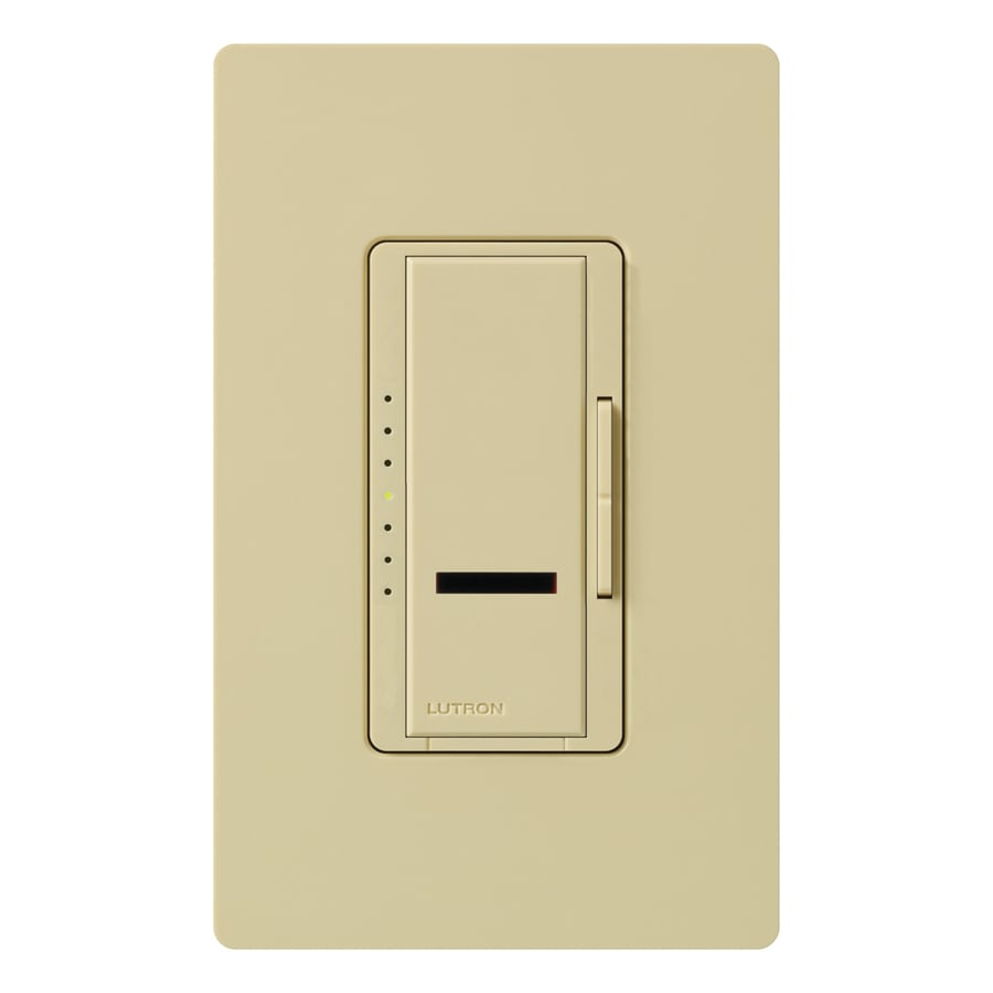 Lutron Maestro IR 1,000-Watt Single Pole Wireless Ivory Indoor Remote Control Dimmer