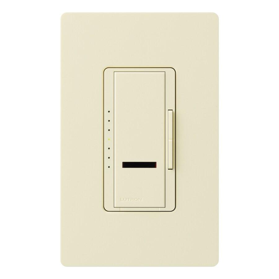 Lutron Maestro IR 1000-Watt Single Pole Wireless Almond Remote Control Indoor Dimmer