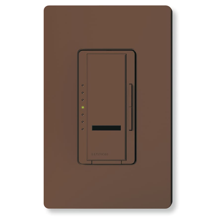 Lutron Maestro IR 1,000-Watt Single Pole Wireless Brown Indoor Remote Control Dimmer