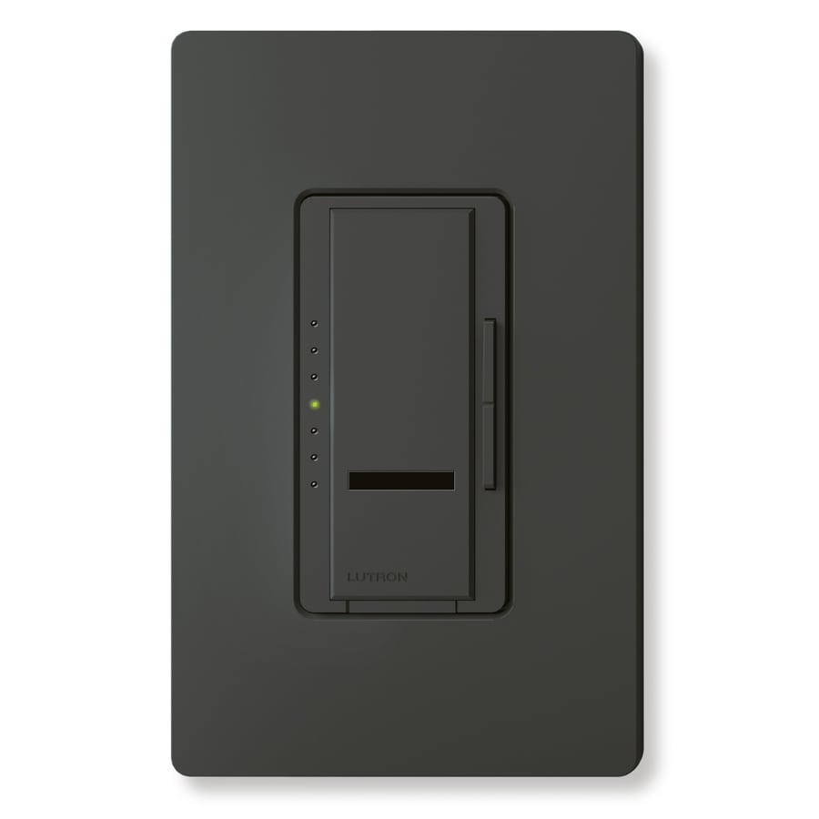 Lutron Maestro IR 450-Watt Single Pole Wireless Black Indoor Remote Control Dimmer