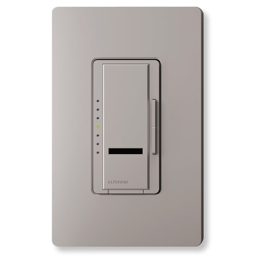 Lutron Maestro IR 450-Watt Single Pole Wireless Gray Indoor Remote Control Dimmer
