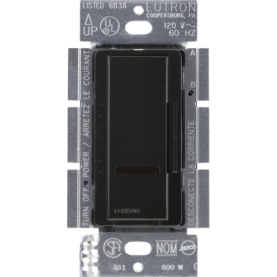 Lutron Maestro IR 450-watt Single Pole Wireless Black Remote Control Indoor Dimmer