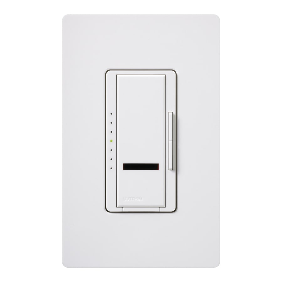 Lutron Maestro IR 800-Watt Single Pole Wireless White Indoor Remote Control Dimmer