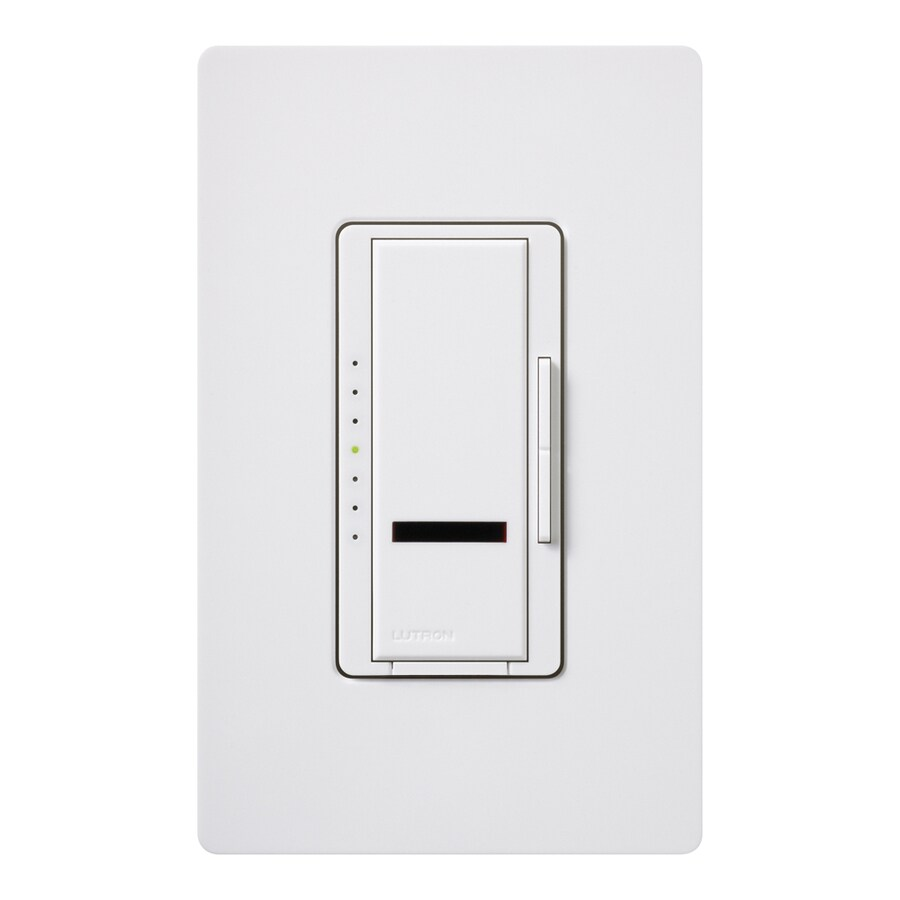 Lutron Maestro IR 800-watt Single Pole Wireless White Remote Control Indoor Dimmer