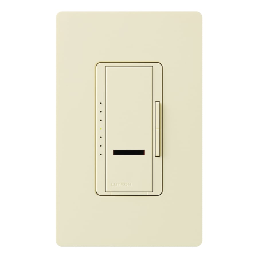shop lutron maestro ir 800 watt single pole wireless almond remote control indoor dimmer at. Black Bedroom Furniture Sets. Home Design Ideas