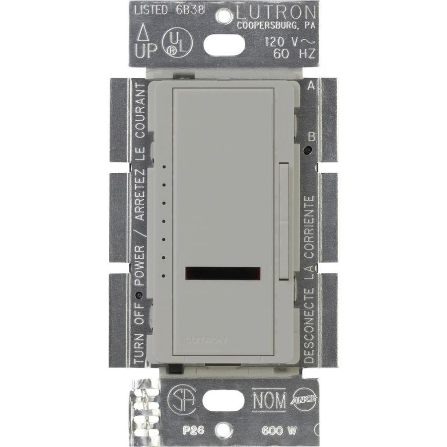 Lutron Maestro IR 800-watt Single Pole Wireless Gray Remote Control Indoor Dimmer