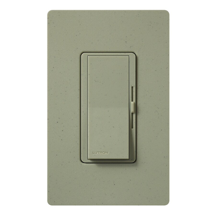 shop lutron diva 300 watt single pole greenbriar indoor dimmer at. Black Bedroom Furniture Sets. Home Design Ideas