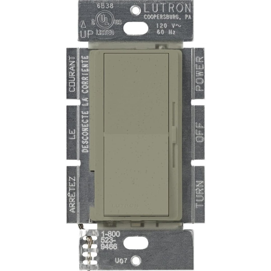 Lutron Diva 450-watt Single Pole Greenbriar Indoor Dimmer