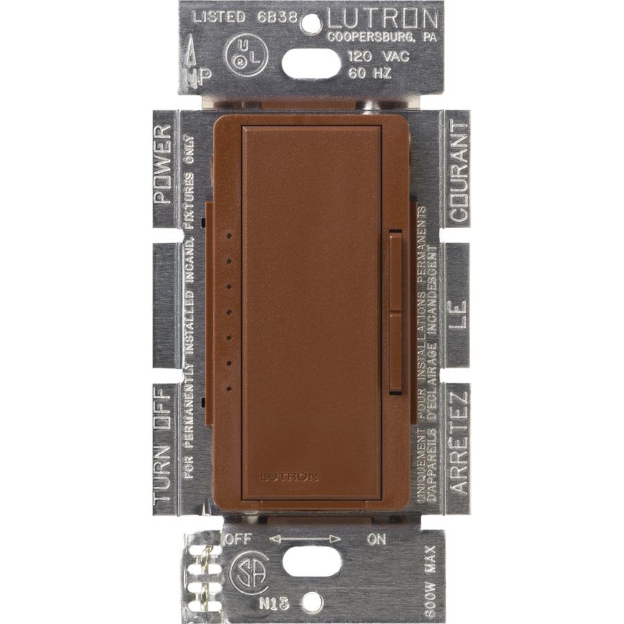 Lutron Maestro 600-Watt Single Pole Sienna Indoor Touch Dimmer
