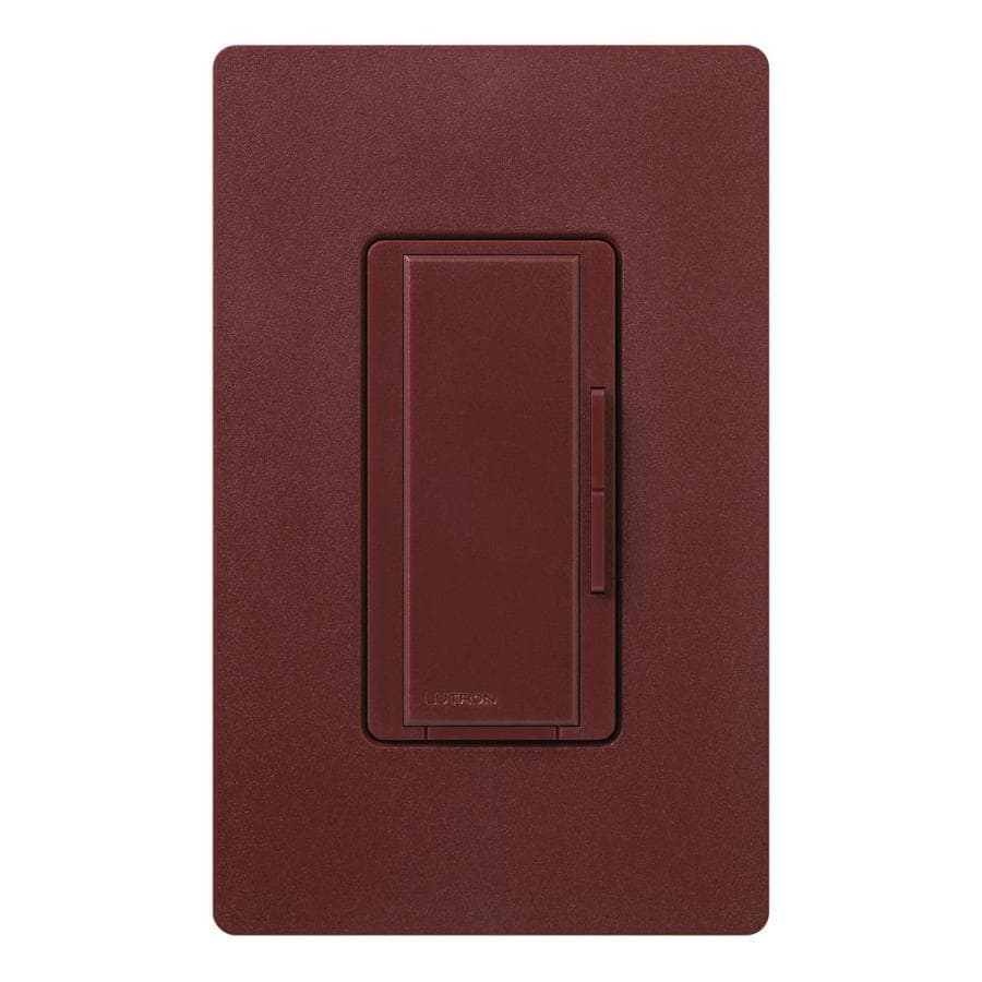 Lutron Maestro 1,000-Watt 3-Way/4-Way Merlot Indoor Tap Dimmer