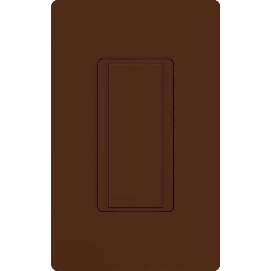 Lutron Maestro 8-amp Single Pole 3-way Sienna Push Indoor Light Switch