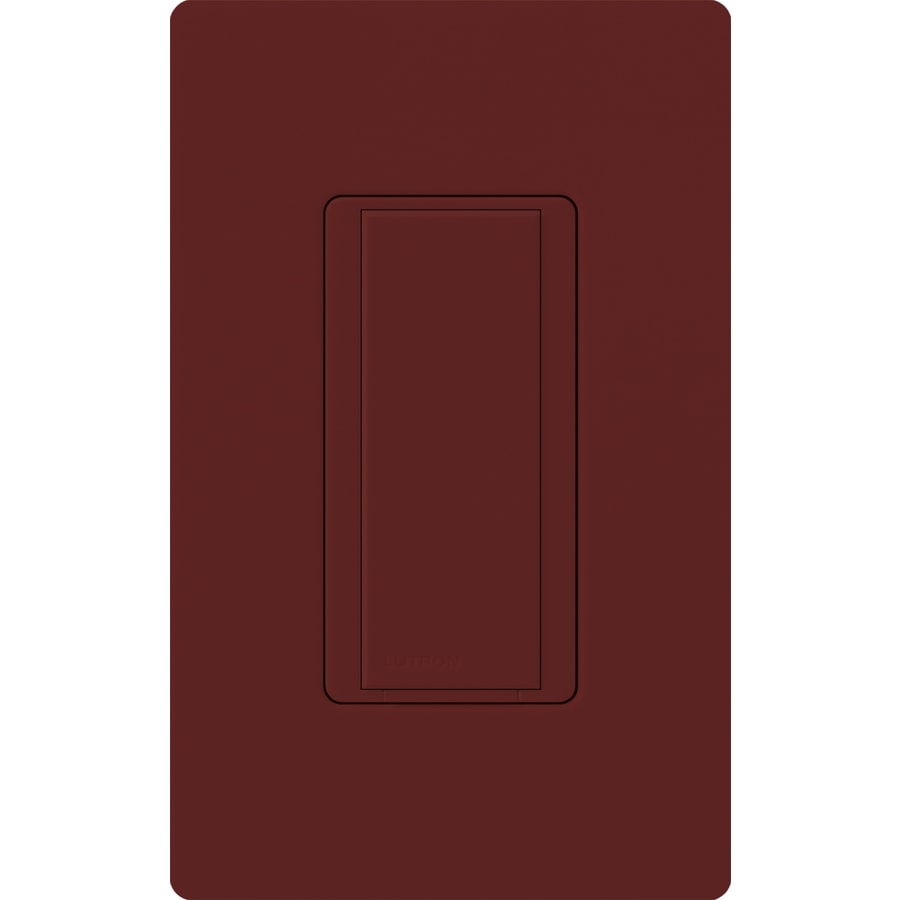 Lutron Maestro 8-Amp Single Pole 3-Way Merlot Indoor Push Light Switch