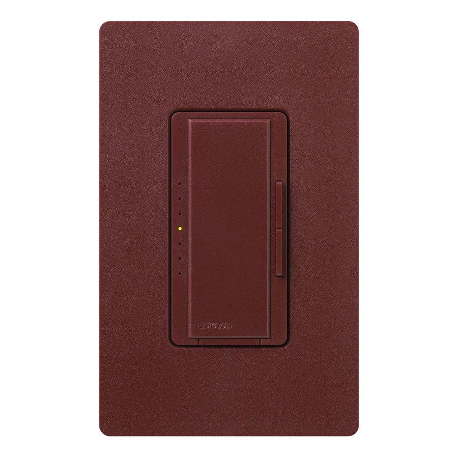 Lutron Maestro 600-Watt Single Pole Merlot Indoor Touch Dimmer