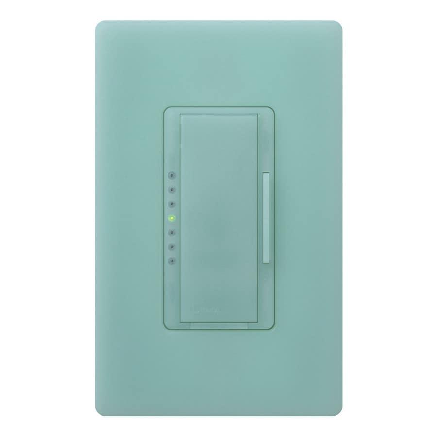 Lutron Maestro 600-Watt Single Pole Sea Glass Indoor Touch Dimmer