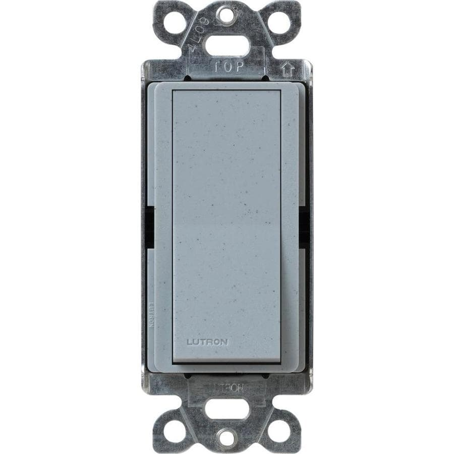 Lutron Claro 15-amp Single Pole Bluestone Push Indoor Light Switch