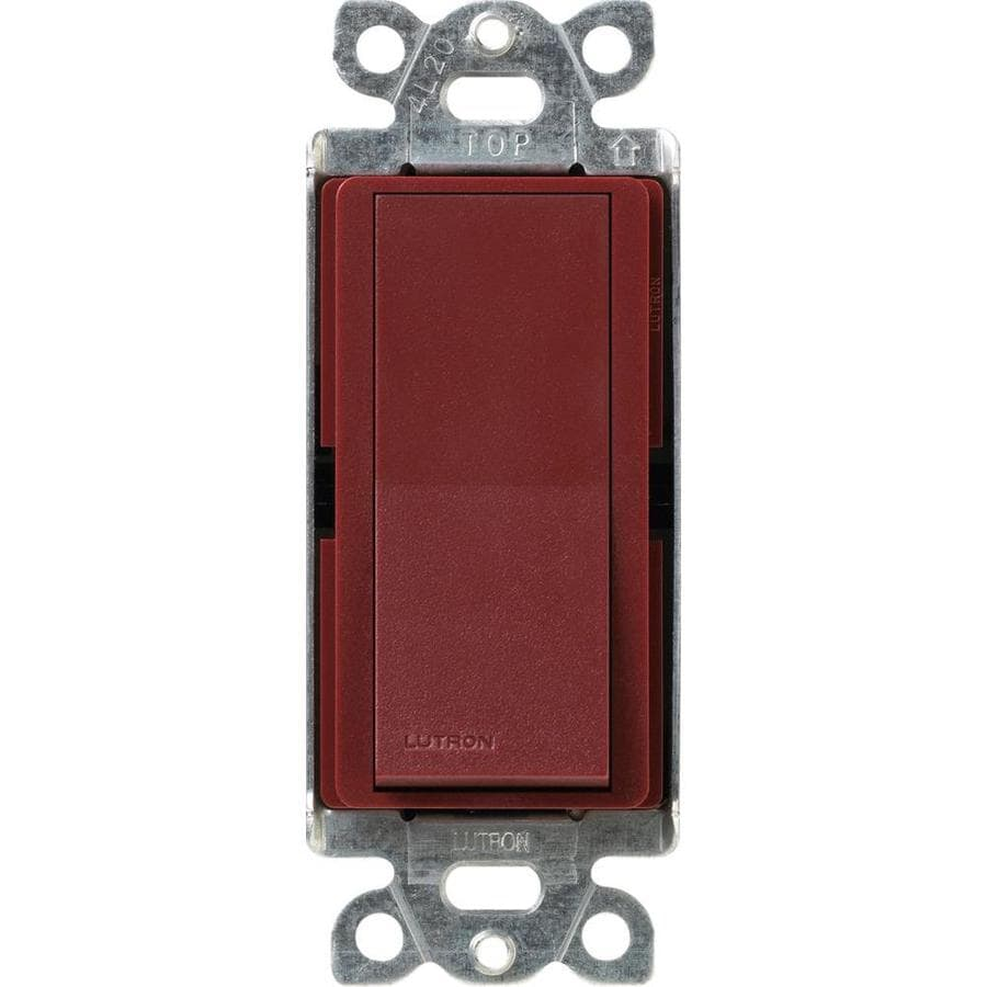 Lutron Claro 15-Amp Single Pole Merlot Indoor Push Light Switch