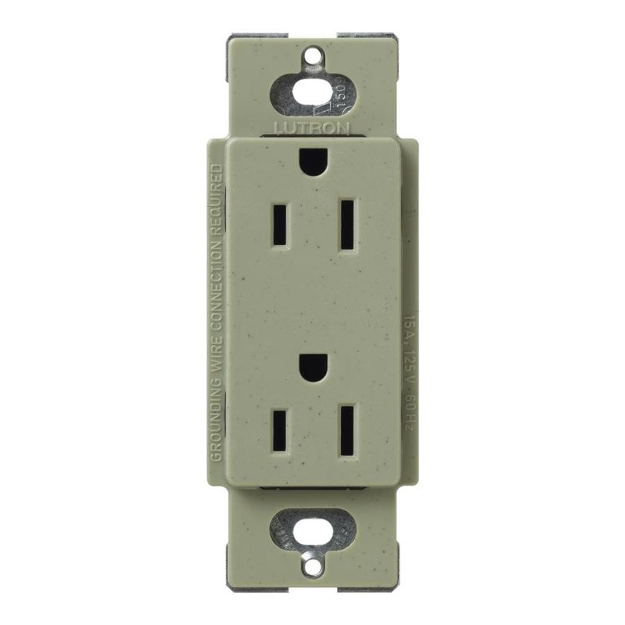 Lutron Claro 15-Amp 120/125-Volt Greenbriar Indoor Decorator Wall Outlet