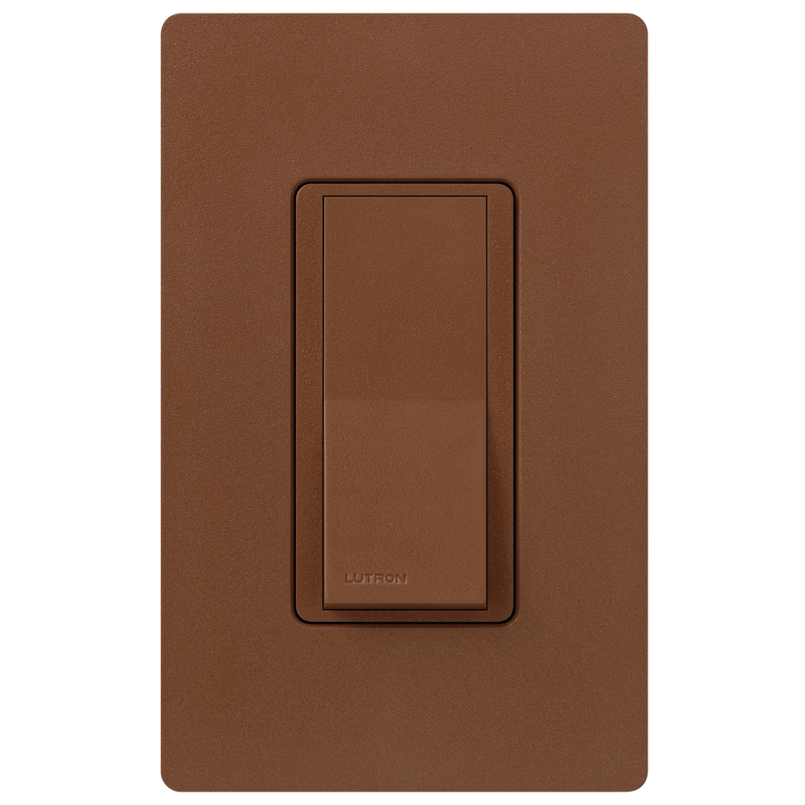 Lutron Claro 15-Amp Double Pole 3-Way Sienna Indoor Push Light Switch