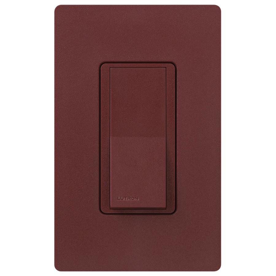 Lutron Claro 15-amp Double Pole 3-way Merlot Push Indoor Light Switch