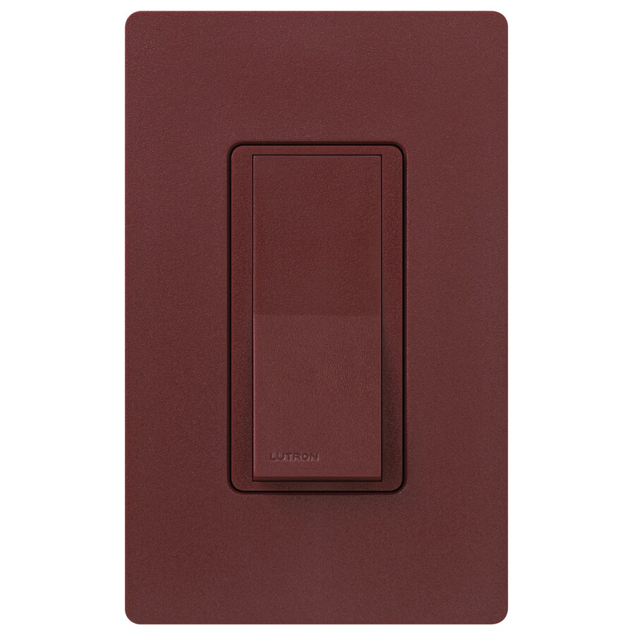 Lutron Claro 15-amp 4-way Merlot Push Indoor Light Switch