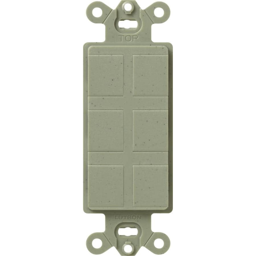 Lutron Claro Satin 6-Gang Greenbriar Decorator Single Receptacle Plastic Wall Plate