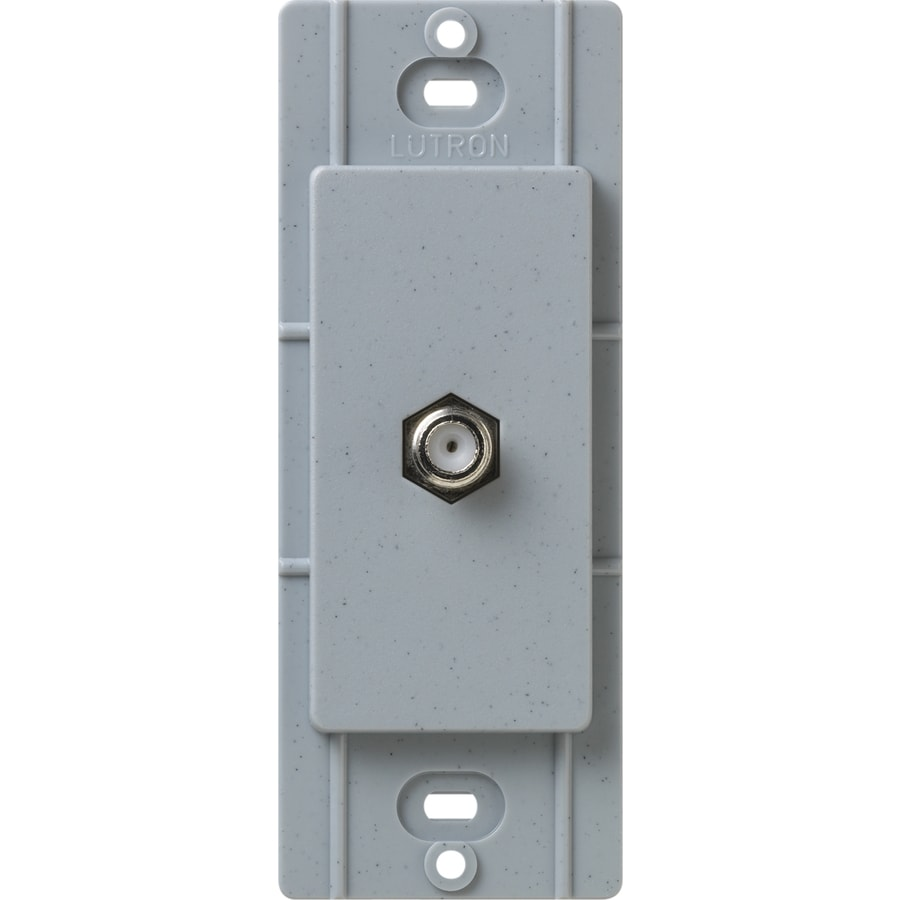 Lutron Claro Satin Color 1-Gang Bluestone Coaxial Wall Plate