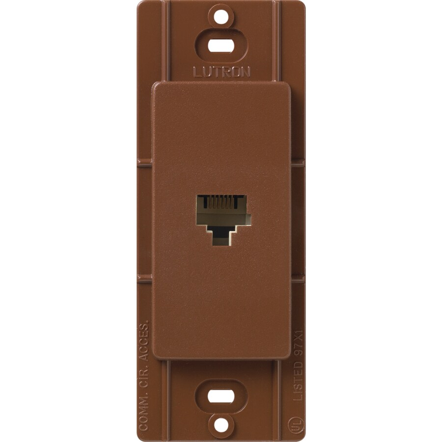 Lutron Claro Satin Color 1-Gang Sienna Phone Wall Plate