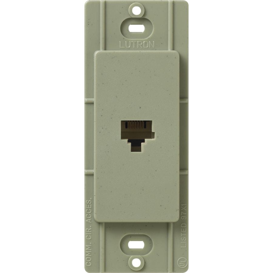 Lutron Claro Satin Color 1-Gang Greenbriar Phone Wall Plate