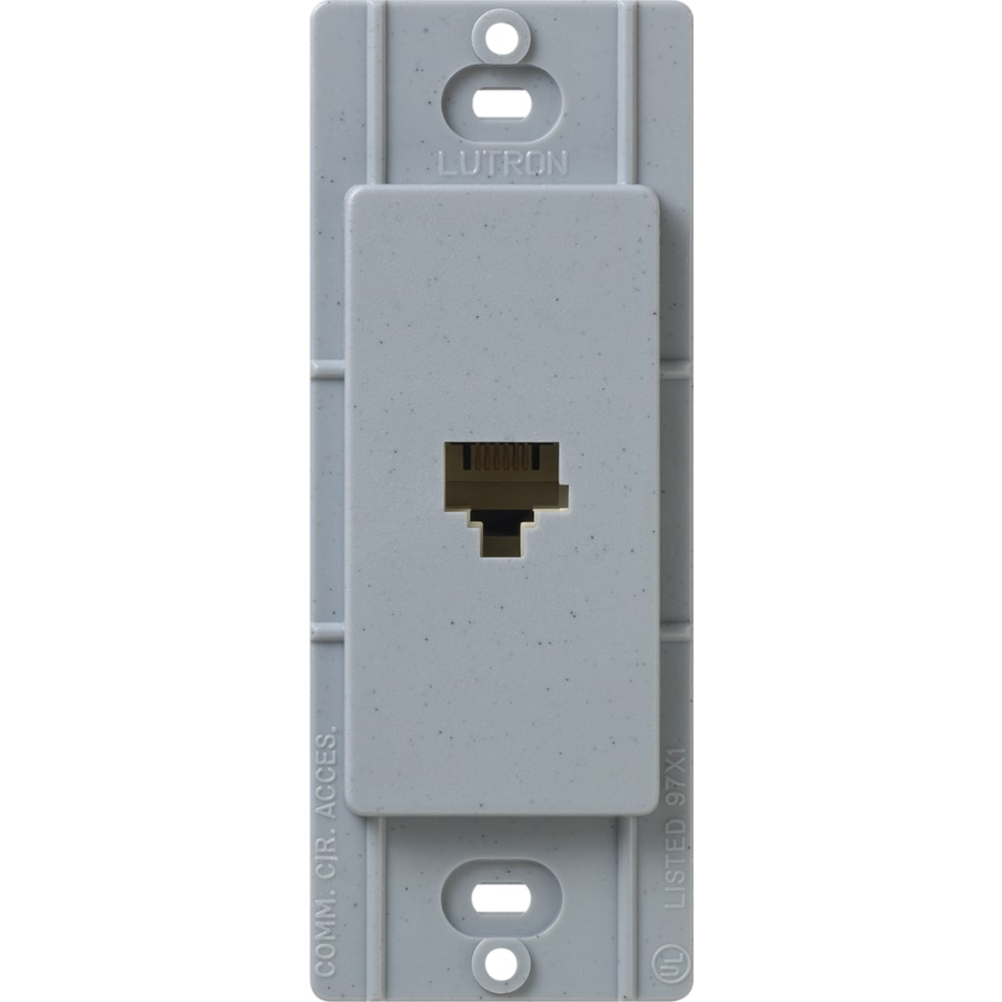 Lutron Claro Satin Color 1-Gang Bluestone Phone Wall Plate