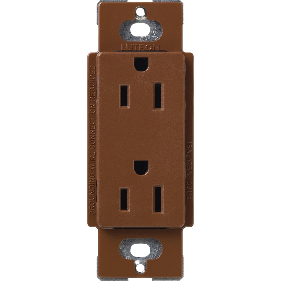 Lutron Claro 20-Amp 120/125-Volt Sienna Indoor Decorator Wall Outlet