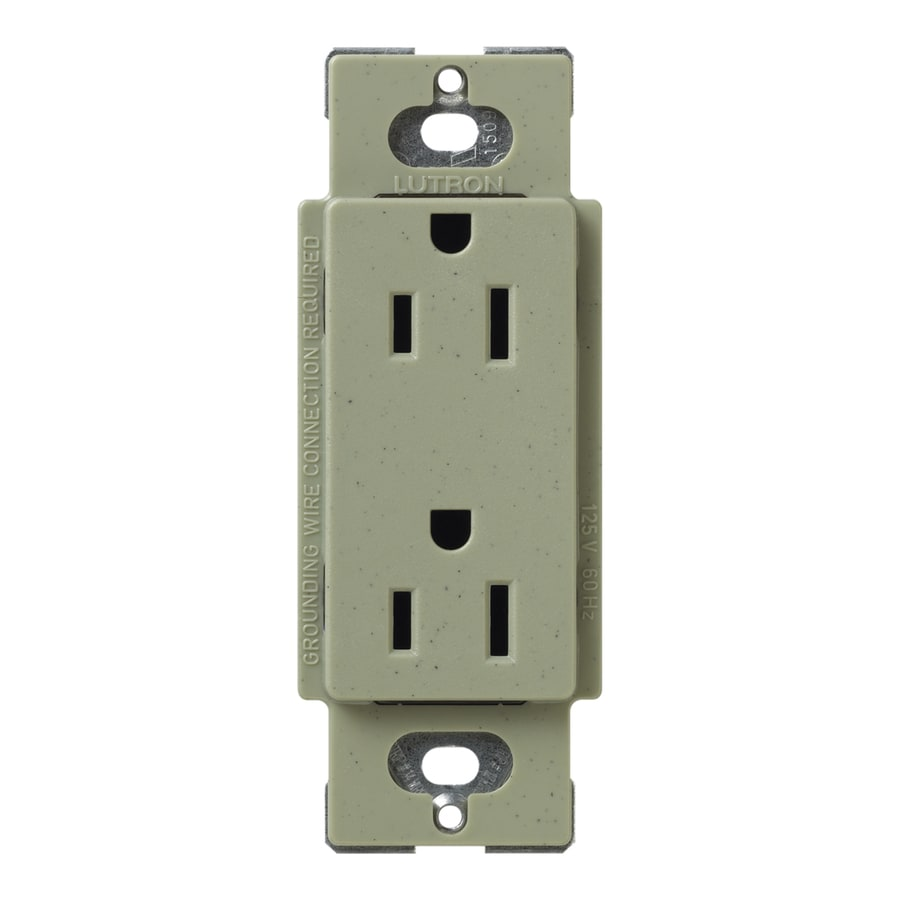Lutron Claro 20-Amp 120/125-Volt Greenbriar Indoor Decorator Wall Outlet