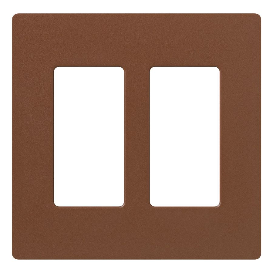 Lutron Claro 2-Gang Sienna Double Decorator Wall Plate