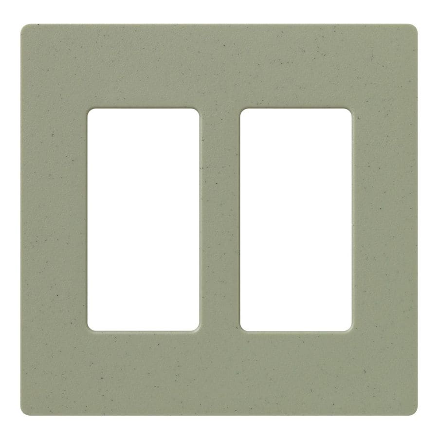 Lutron Claro 2-Gang Greenbriar Double Decorator Wall Plate