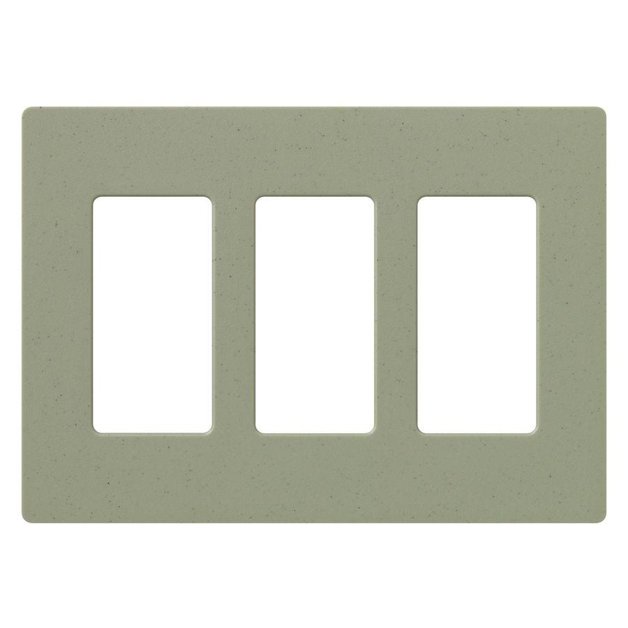 Lutron Claro 3-Gang Greenbriar Triple Decorator Wall Plate