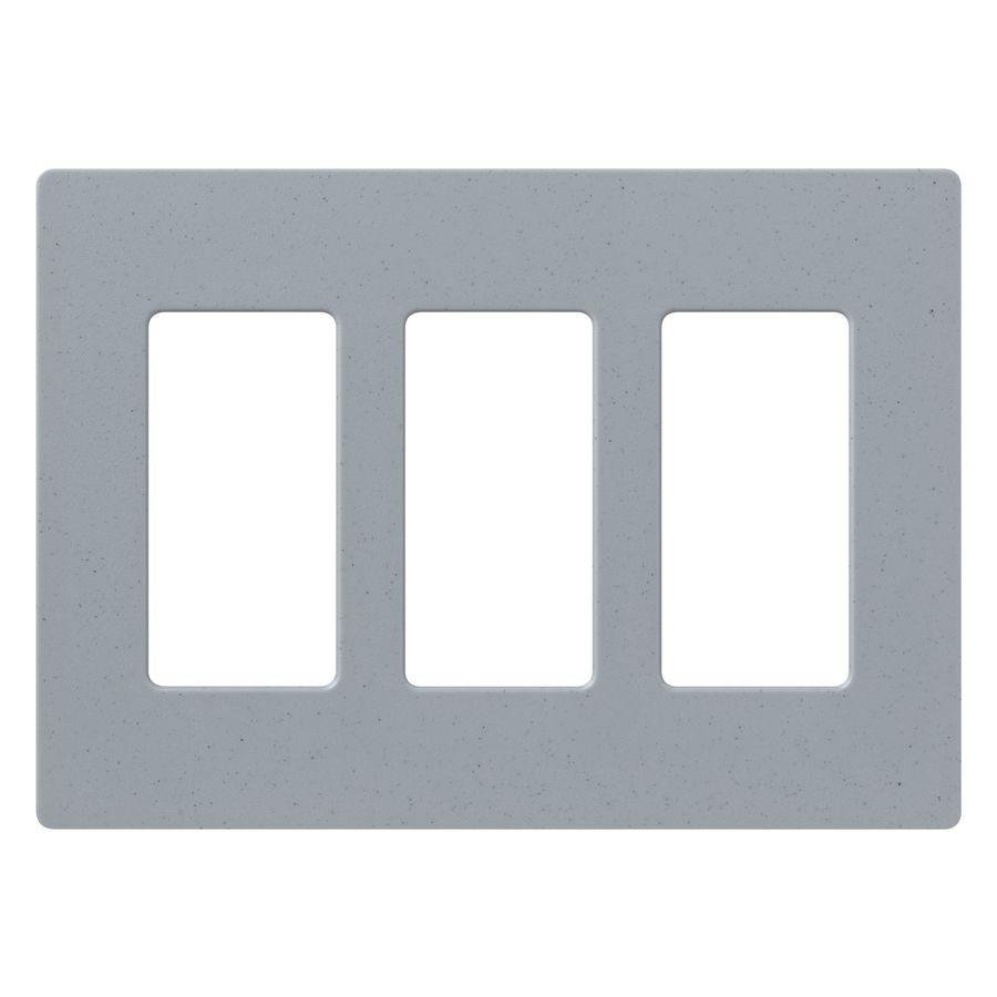 Lutron Claro 3-Gang Bluestone Triple Decorator Wall Plate