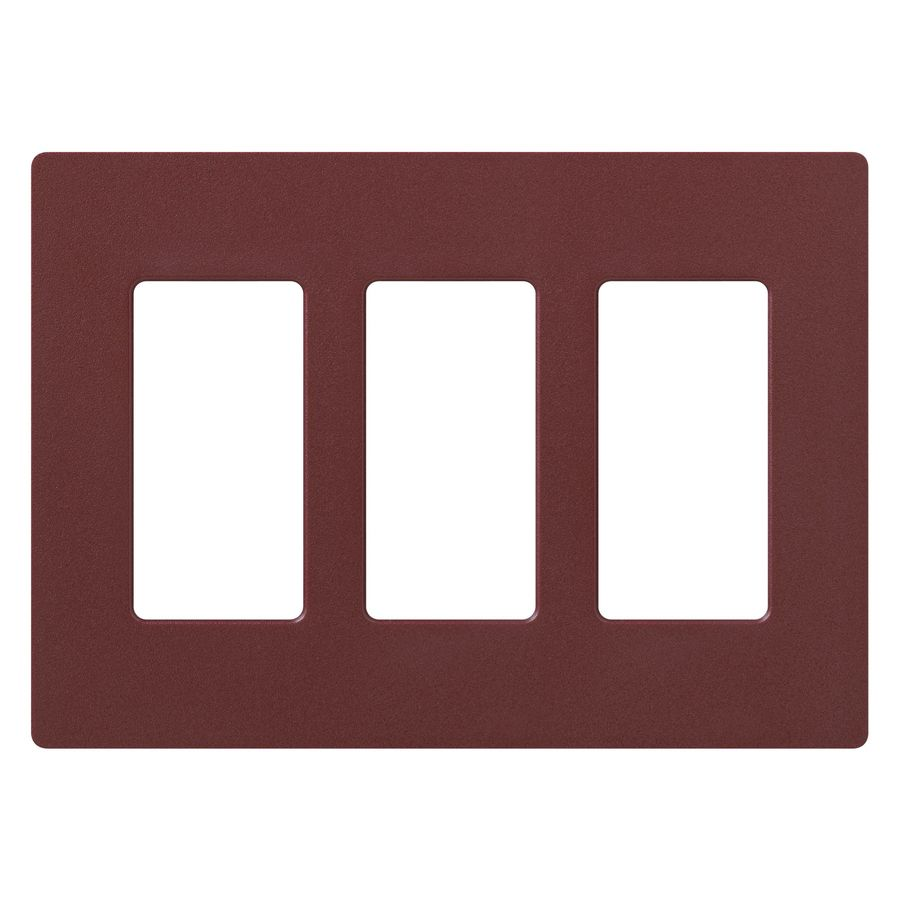 Lutron Claro 3-Gang Merlot Triple Decorator Wall Plate