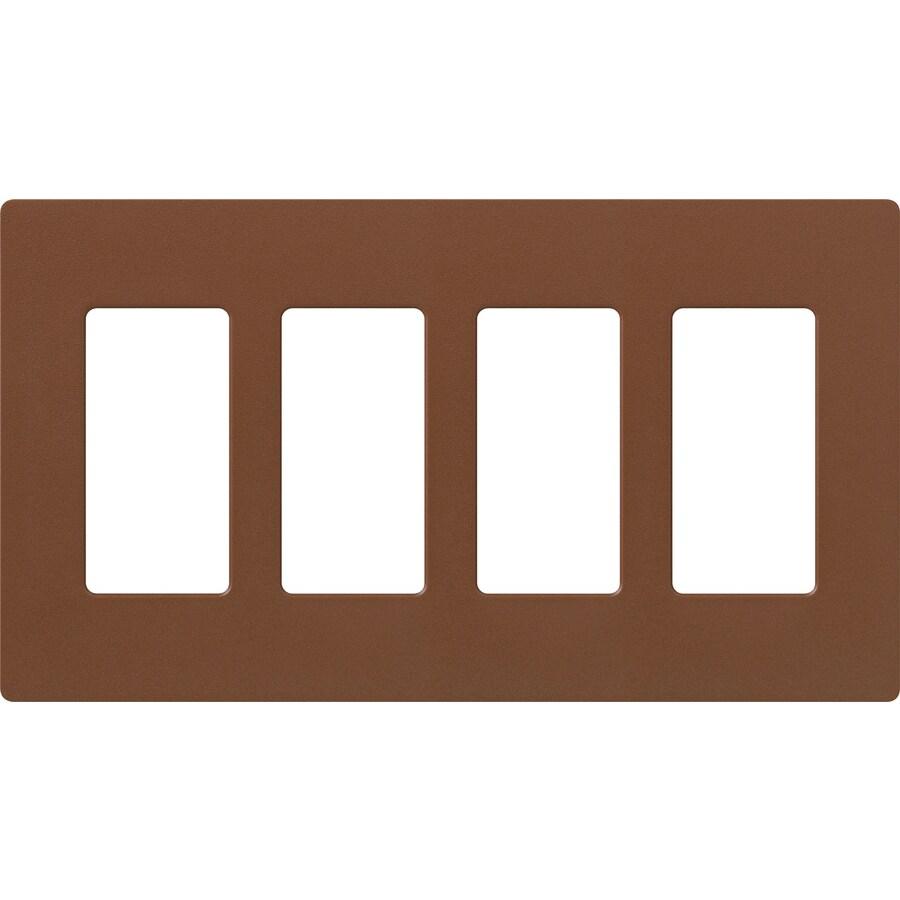 Lutron Claro 4-Gang Sienna Quad Decorator Wall Plate