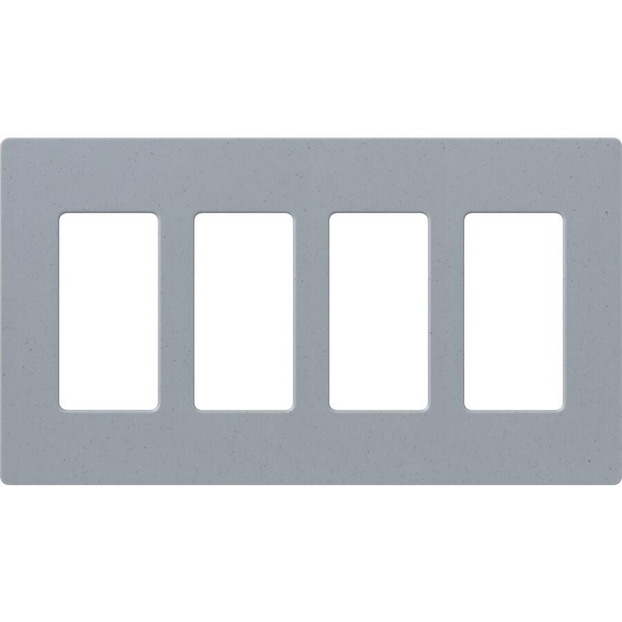 Lutron Claro 4-Gang Bluestone Quad Decorator Wall Plate