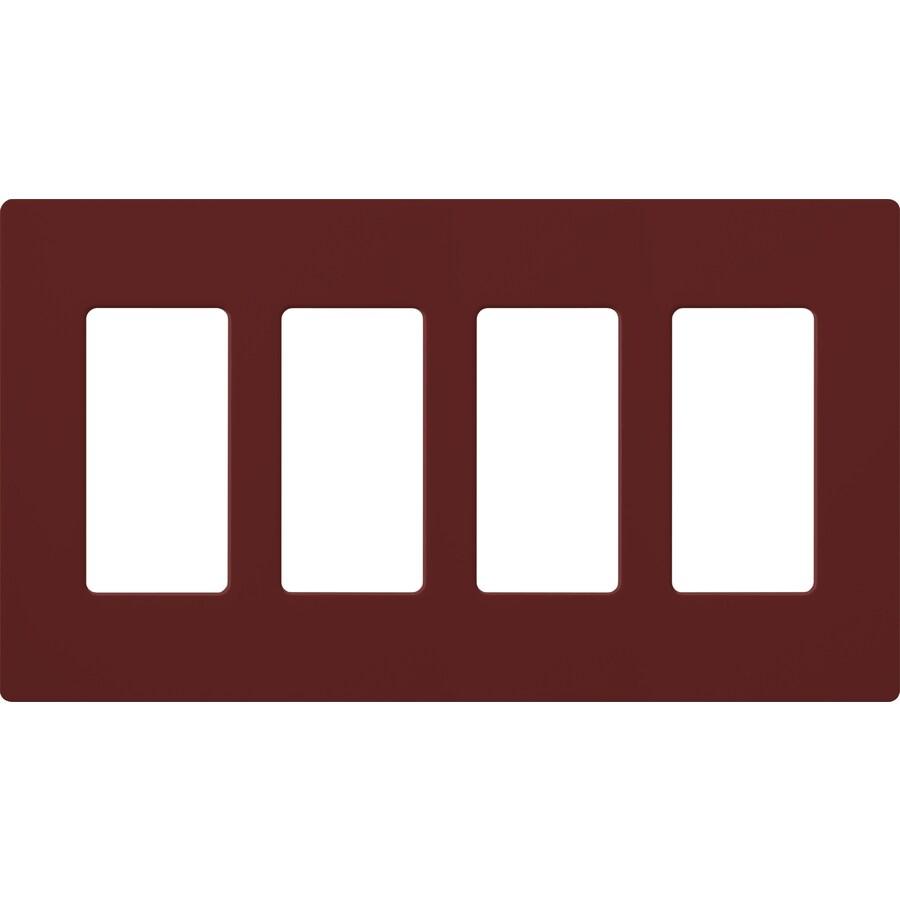 Lutron Claro 4-Gang Merlot Quad Decorator Wall Plate