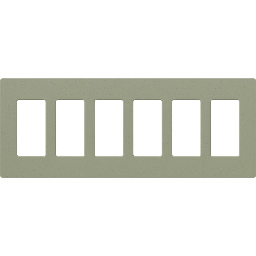 Lutron Claro 6-Gang Greenbriar Six Decorator Wall Plate