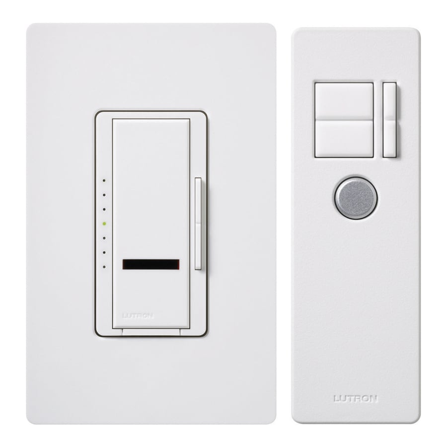 Shop Lutron Maestro IR 600watt Single Pole 3way Wireless White