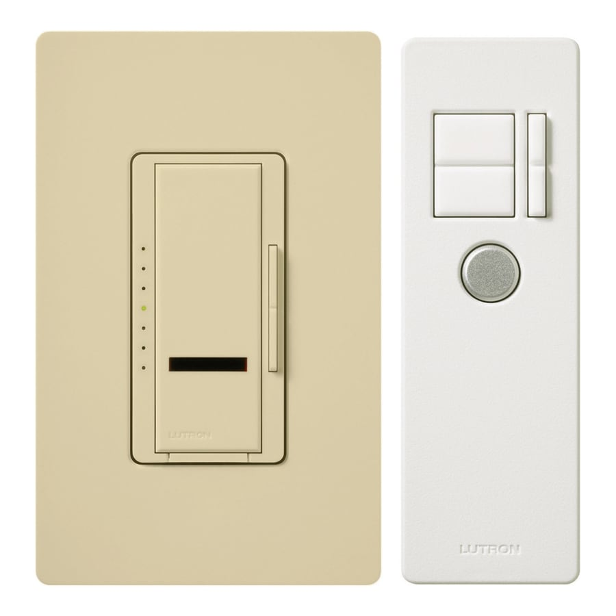 Lutron Maestro IR 600-Watt Single Pole Wireless Ivory Indoor Remote Control Dimmer