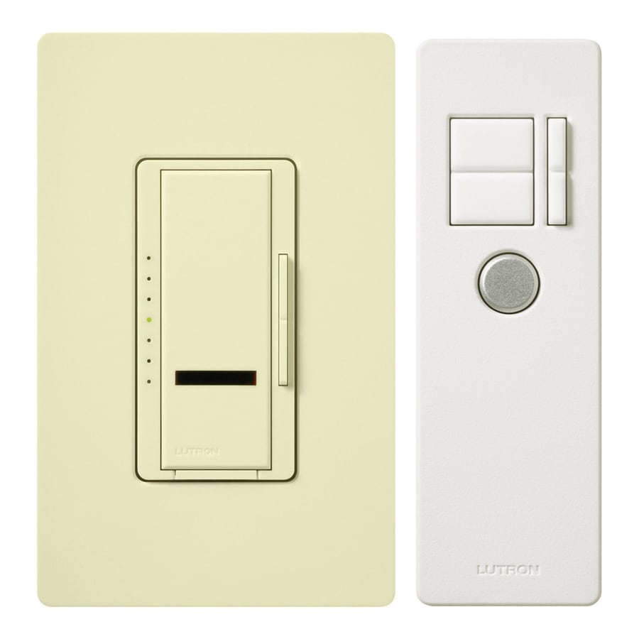 Lutron Maestro IR 600-Watt Single Pole Wireless Almond Indoor Remote Control Dimmer